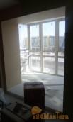Система встроенного балкона в Покровском. С выводом батареи