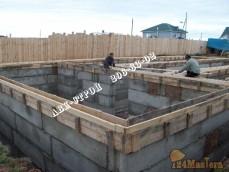 Изготовление цокольного этажа