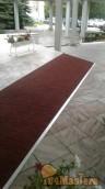 Противоскользящее покрытие gummi-рельеф, цвет красный+алюминиевый профиль. Гостиница Яхонт...