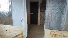 Реконструкция бани снаружи, с полной заменой кровли и внутренней отделкой в пос. Элита.
