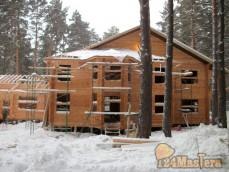Дом отдыха клееный брус фундамент BAU FM24 114*2500