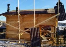 сруб дома из профилированого бруса в Красноярске. Строительство под ключ от 25000 руб. м2....