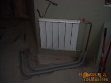 Монтаж подводки к радиатору отопления в полу.