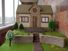 Макет М 1:12 Варианты применения натурального камня (облицовка цоколя, фасада, устройство ...