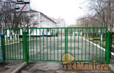 Ворота с калиткой в дет. садике.