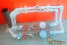 Установка счетчиков воды, разводка, установка сантехники.