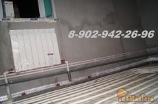 Комбинированная система отопления. Радиаторы + теплый пол. Подготовлено под заливку бетонн...