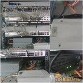 Расключение сервера видеонаблюдения,СКД и охранной сигнализации.Установлена система управ...