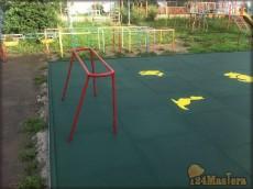 Мат GUMMI 1000х1000х20 мм, зеленый. Покрытие детской спорт...