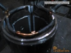 Ремонт пробоя обмотки статора на корпус, уложен синтофлекс
