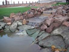 Обустройство природным камнем водоемы 297-89-53