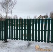 Забор из мет штакетника