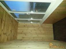 Отделка балкона вагонкой на Судостроительной