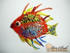 Декоративный элимент, рыба, служит как мини витраж или можно приклеить к стеклу, зеркалу л...