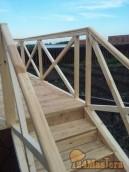 Лестница В Нанжуле на подиум. Обратите внимание как аккуратно сделаны запилы.