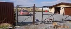 Монтаж откатных ворот в Емельяновский район.