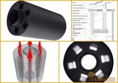 Радиатор печной трубы (Экономайзер) 1100х300х120мм.Эффект...