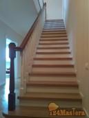 Лестница дубовая в п. Минино