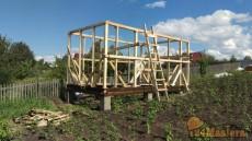 Строительство дачного домика. Отзыв о работе есть на сайте