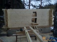 Строительство бани из клееного бруса. Ярлыковка, апрель 20...