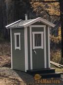 Дачный туалет в финском стиле. Светлый, просторный,без зап...