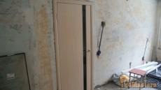 дверь Грандекс 1 с черным стеклом