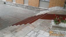 Противоскользящее покрытие gummi-рельеф, алюминиевый профиль. Гостиница Яхонт.