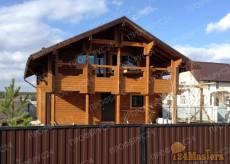 сруб дома из профилированного бруса в Красноярске. Строительство под ключ от 25000 руб. м2...