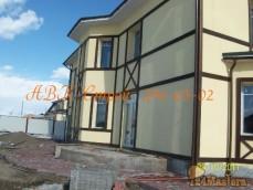 Огромный и красивый дом получился =)