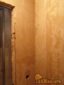 Ванная. Выравнивание стен по маякам.