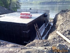 Гараж под лодку из ФБС с гидроизоляцией